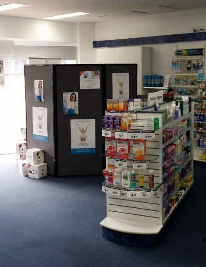 Creating Private Consultation Booths Within Pharmacies Using Portable Privacy Screens
