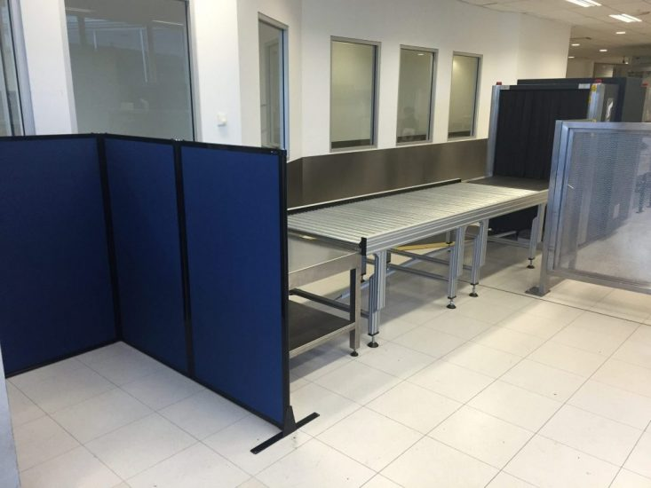 Creating baggage screening areas at Sydney Airport with Portable Partitions