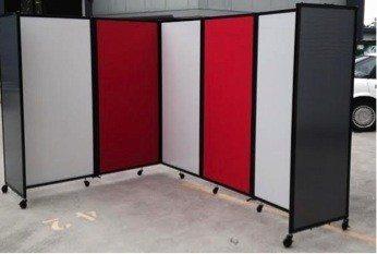 Custom Colour Office Partitions  - Portable Partitions
