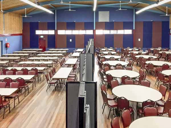 Hampton park venue with fabric straightwall room dividers