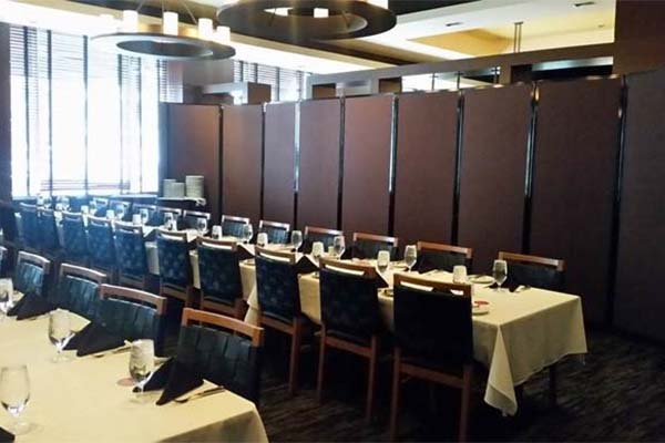 Maximum Space Covered by Partitions in Restaurants - Portable Partitions