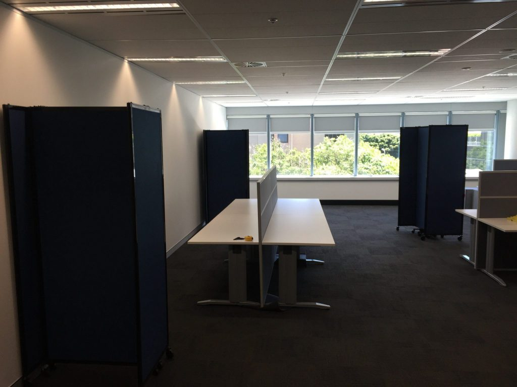 easily set up an office meeting area within a room using mobile folding room dividers mobile room dividers uk