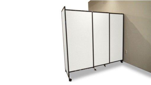 Flexible transparent room divider- portable partition
