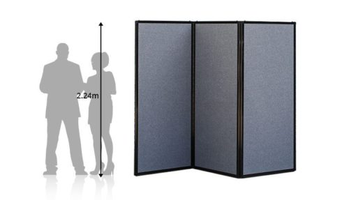 3 panel office privacy screen charcoal