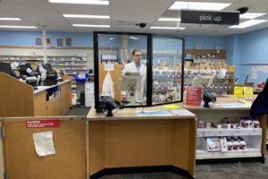 perspex divider screen retail counter 4
