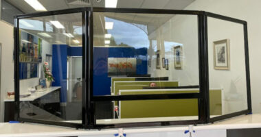 Insurance Brokerage Office in Far North Queensland Install Countertop Protection Screen