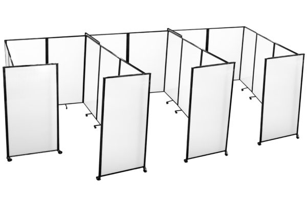 3-white-vaccination-booths-portable-partitions